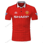 Manchester United 1992-94 Umbro Home - CUSTOMIZE NAME AND NUMBER - HOT SALE 3D PRINTED