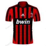 AC-MILAN HOME 2007/08 - CUSTOMIZE NAME AND NUMBER - HOT SALE 3D PRINTED