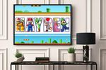 Best gifts MARIO- CUSTOM NAME AND CHARACTER - Premium Poster & Canvas