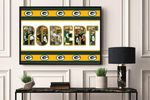 Packers -CUSTOM NAME AND PLAYER- Premium Poster & Canvas