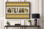 Steelers - -CUSTOM NAME AND PLAYER- Premium Poster & Canvas