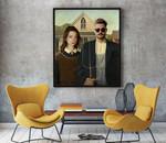 American Gothic-CUSTOM PICTURE- - Premium Poster & Canvas