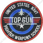 """3"""" TOP GUN Quality Embroidered Patch"""