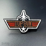 TOP GUN (Size:4.4X7.0cm) DIY Badges Patch Embroidered