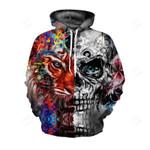 Skull & Lion 3D Hoodie