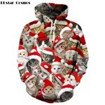 Christmas hoodies Cat