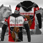 Pitbull Red Nose All Over Print Hoodies