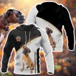 Boxer Dog All Over Print Hoodies