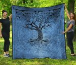 Celtic Spirits Tree Of Life Premium Quilt