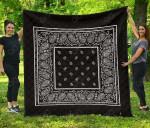 Black Bandana Premium Quilt