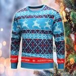 Pattern Christmas Elastic Sweatshirt