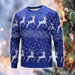 Pattern Christmas Deer Elastic Sweatshirt