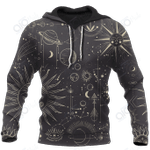3D All Over Printed Shirts Hoodie Sun and Moon MP998