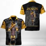 Jesus Lion Version 2 Short Sleeve Linen Button Down Shirt