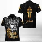 Jesus Is The True God Short Sleeve Linen Button Down Shirt