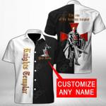 Customize Knights Templar Short Sleeve Linen Button Down Shirt