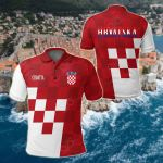 Croatia Coat Of Arms Special Version All Over Print Polo Shirt