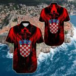 Croatia Hrvatska Short Sleeve Linen Button Down Shirt