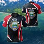 Customize Costa Rica Spirit All Over Print Polo Shirt