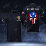 Customize Puerto Rico Coat Of Arms - Flag Skull Polo Shirt