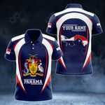 Customize Panama Map & Coat Of Arms All Over Print Polo Shirt