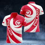 Poland Coat Of Arms - Whirlpool Style All Over Print Polo Shirt