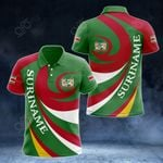 Suriname Coat Of Arms - Whirlpool Style All Over Print Polo Shirt