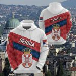 Serbia Sporty Style All Over Print Shirts