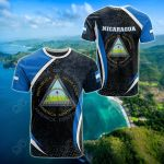 Nicaragua Spirit All Over Print T-shirt