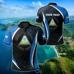 Customize Nicaragua Spirit All Over Print Polo Shirt