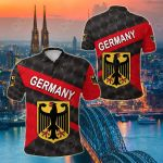Germany Sporty Style All Over Print Polo Shirt