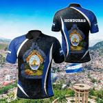 Honduras Spirit All Over Print Polo Shirt