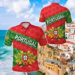 Portugal Sporty Style All Over Print Polo Shirt
