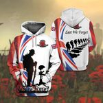 United Kingdom Flag Army - Lest We Forget All Over Print Shirts