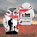 British Army Soldier - Lest We Forget All Over Print Shirts
