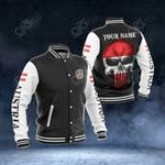 Customize Austria Coat Of Arms - Flag Skull All Over Print Varsity Jacket