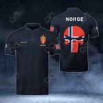 Customize Norway Coat Of Arms - Flag Skull Polo Shirt