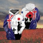 Australian Army Veteran Lest We Forget Poppy All Over Print Shirts