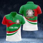 Italian Proud Version All Over Print Polo Shirt