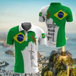 Jesus Brazil Faith All Over Print Polo Shirt