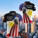 Made In America With Filipino Parts All Over Print Polo Shirt