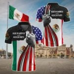 Made In America With Mexican Parts All Over Print Polo Shirt