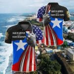 Made In America With Puerto Rican Parts All Over Print Polo Shirt