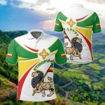 Ethiopia Round Lion Ver02 All Over Print Polo Shirt