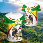Ethiopia Round Lion Ver02 All Over Print T-shirt