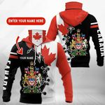 Customize Canada Coat Of Arms All Over Print Neck Gaiter Hoodie