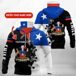Customize Chile Coat Of Arms All Over Print Neck Gaiter Hoodie