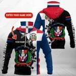 Customize Dominican Republic Coat Of Arms All Over Print Neck Gaiter Hoodie