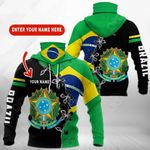 Customize Brazil Coat Of Arms All Over Print Neck Gaiter Hoodie