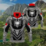Albania Coat Of Arms - Armor All Over Print Neck Gaiter Hoodie
